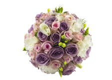 Poślubiający różanego bukiet odizolowywającego na bielu Zdjęcie Royalty Free