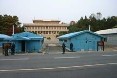 Poludniowo-koreańscy żołnierze na granicie przy Panmunjom obrazy royalty free