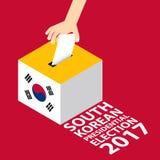 Poludniowo-koreański wybór prezydenci 2017 Obrazy Stock