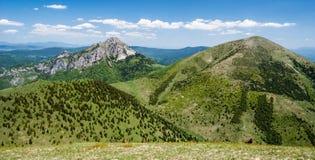 Poludnovy grun, Maly Rozsutec, Velky Rozsutec and Stoh hill in Mala Fatra mountains in Slovakia royalty free stock image