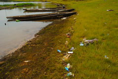 Poluentes nas águas residuais Imagens de Stock