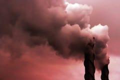 Poluição/aquecimento global imagens de stock