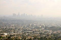 Poluição atmosférica de Los Angeles imagem de stock