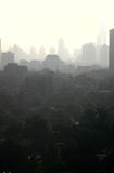 Poluição atmosférica em China fotografia de stock royalty free