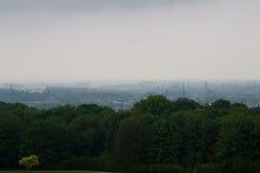 Poluição atmosférica sobre a cidade Foto de Stock Royalty Free