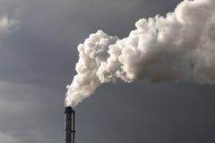 Poluição da chaminé Foto de Stock