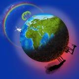 Poluição da terra Fotos de Stock Royalty Free