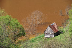 Poluição de água Imagem de Stock