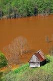 Poluição de água Foto de Stock