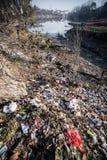 Poluição de água em China Imagens de Stock Royalty Free
