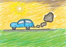 poluição Desenhar dos miúdos Foto de Stock