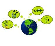 Poluição do ambiente global Fotografia de Stock Royalty Free