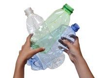 Poluição do ambiente por plásticos foto de stock