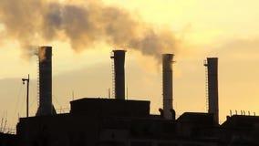 Poluição do ar atmosférica video estoque