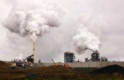 Poluição do ar atmosférica do fumo industrial agora fotografia de stock royalty free