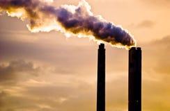 Poluição do ar; Basileia   Fotografia de Stock