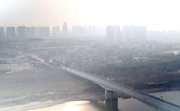 Poluição do ar da cidade Foto de Stock Royalty Free