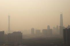 Poluição do ar da porcelana fotografia de stock