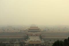 Poluição do ar do Pequim imagens de stock royalty free