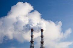 Poluição do ar industrial Fotos de Stock Royalty Free