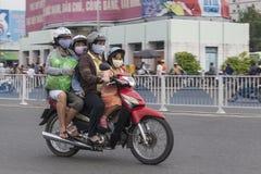 Poluição do ar na cidade de Ho Chi Minh, Vietname imagens de stock