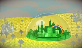 Poluição do ar pm2 5 ilustração royalty free