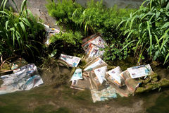 Poluição do lixo Imagens de Stock Royalty Free