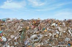 Poluição do lixo na Índia imagem de stock