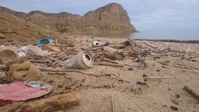 Poluição em África, Angola Fotografia de Stock