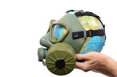 Poluição global da terra Imagens de Stock