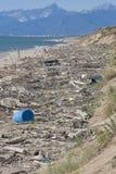 Poluição global praia do mar, Itália Imagens de Stock Royalty Free
