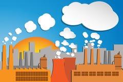 Poluição industrial Fotos de Stock Royalty Free