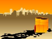 Poluição industrial ilustração do vetor