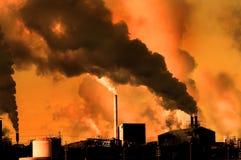 Poluição no ar Fotos de Stock Royalty Free