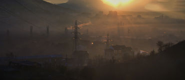 Poluição urbana Fotografia de Stock Royalty Free
