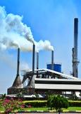 Poluição do ar por Moinho Fotografia de Stock