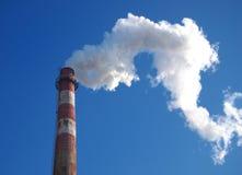 Poluição, fumo da chaminé Foto de Stock