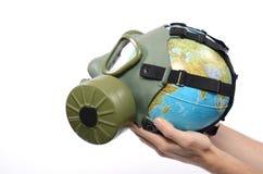 Poluição global da terra Fotografia de Stock