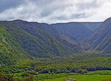 Polulu Valley on Big Island in Hawaii Royalty Free Stock Photography
