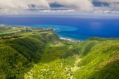 Polulu Valley, Big Island, Hawaii Stock Photos