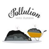 Polution. Pollution design over white background, vector illustration Stock Photos
