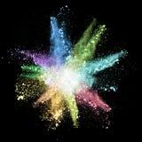 Polvere colorata Fotografie Stock