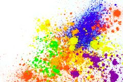 Polvere colorata naturale del pigmento immagini stock libere da diritti