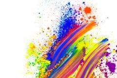 Polvere colorata naturale del pigmento fotografia stock libera da diritti