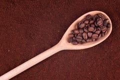 Polvere del caffè Fotografia Stock Libera da Diritti