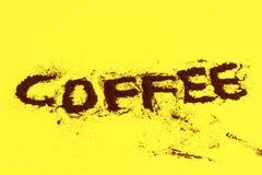 Polvere del caffè Fotografie Stock Libere da Diritti