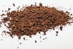 Polvere del caffè istantaneo fotografie stock libere da diritti