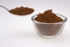 Polvere del caffè solubile Fotografia Stock