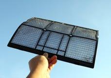 Polvere del filtrante del condizionatore d'aria Fotografie Stock Libere da Diritti