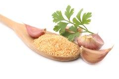 Polvere dell'aglio Fotografie Stock Libere da Diritti